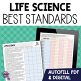 "7th Grade Life Science ""I Can"" Student Checklists Florida"