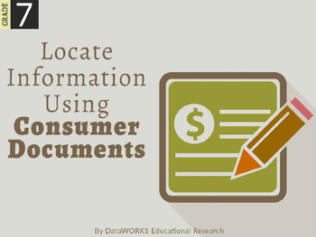 Locate Information using Consumer Documents (EDI)
