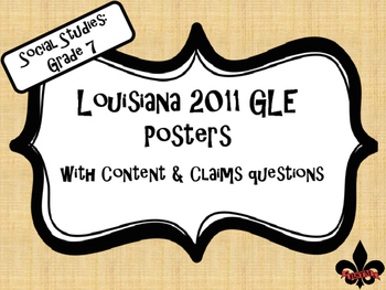 7th Grade Louisiana GLE Posters for Social Studies on Line
