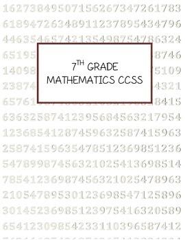 7th Grade Math CCSS Date Tracker