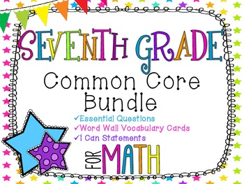 7th Grade Math Common Core Bundle! Everything You Need! *N