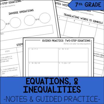 7th Grade Math Equations & Inequalities