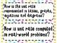 7th Grade Math Essential Questions Neon Stars *Common Core