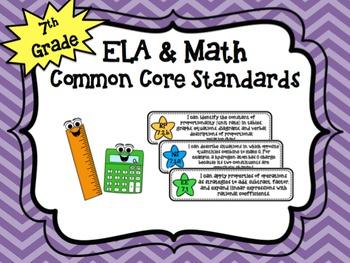 "7th Grade Math ""I Can"" Common Core Standards"