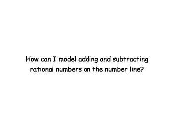 7th Grade Math Module 2 Essential Questions & Vocab: Integ