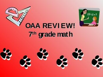 7th Grade Math OAA Jeopardy!