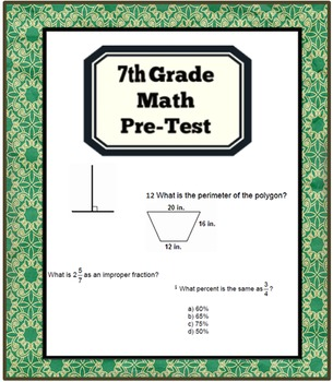 7th Grade Math Pre-Test