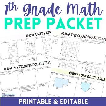 7th Grade Math Prep Packet