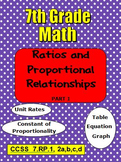 7th Grade Math Ratios and Proportional Relationships Part