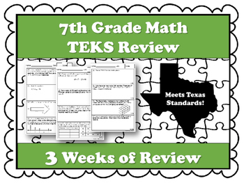 7th Grade Math STAAR and TEKS Review