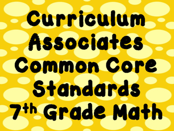 7th Grade Math Standards Posters
