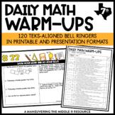 7th Grade Math Warm Ups - TEKS - STAAR Prep
