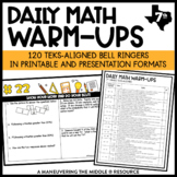 7th Grade Math Warm Ups - TEKS