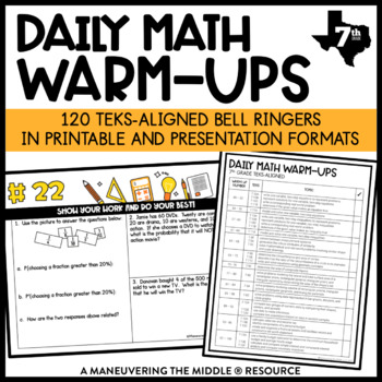 7th Grade Math Warm Ups - TEKS