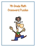 7th Grade Math Vocabulary Crossword Puzzles