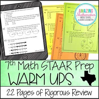 7th Grade Math Warm Ups - STAAR Prep