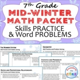 7th Grade MID WINTER  / February MATH PACKET -  { COMMON C
