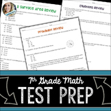 Math Assessment Skills Review for 7th Grade