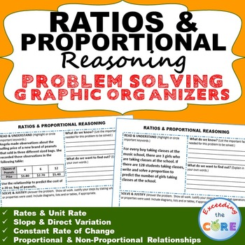RATIOS and PROPORTIONAL REASONING Word Problems with Graph