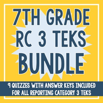 7th Grade RC 3 TEKS BUNDLE! (All RC 3 TEKS)