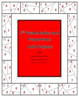 7th Grade Ratios and Proportions Unit Projects