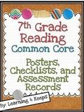 7th Grade Reading Common Core Pack