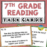 7th Grade Reading Comprehension Common Core Task Cards
