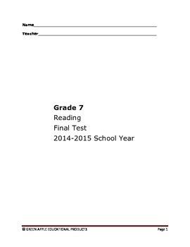 7th Grade Reading Test