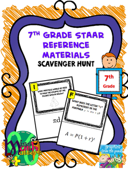 7th Grade Reference Materials Scavenger Hunt | Formula Cha