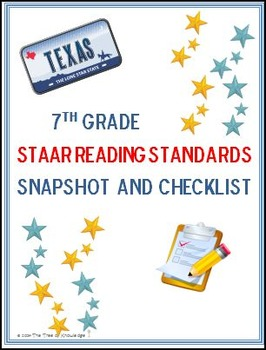 7th Grade STAAR Reading Standards: Snapshot and Checklist