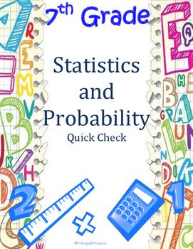 7th Grade Statistics and Probability Quick Check