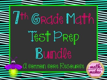 7th Grade Math Common Core Review Bundle~ over 1 month of