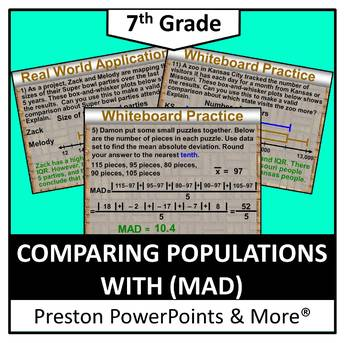 (7th) Comparing Populations with (MAD) in a PowerPoint Pre