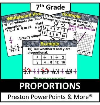 (7th) Proportions in a PowerPoint Presentation