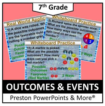 (7th) Outcomes and Events in a PowerPoint Presentation