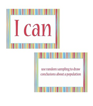 """7th grade """"I Can Statements"""" Math Standard Posters"""
