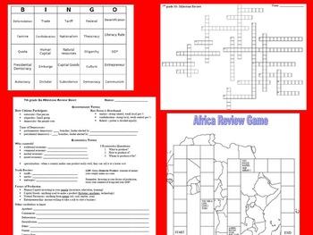 7th grade SS Ga Milestone Review Bundle