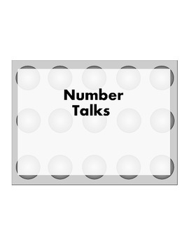 7th or 8th Grade Common Core 20 Number Talks