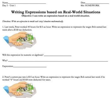 Common Core 7th or 8th Grade BUNDLE: Algebraic Expressions