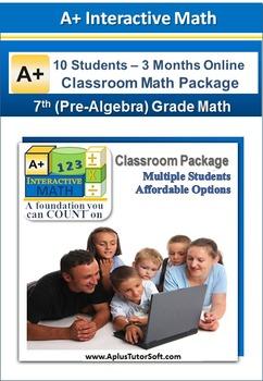 7th/8th Grade Math (Pre-Algebra) - Classroom Package (10 S