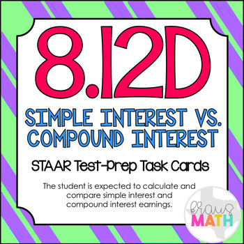 8.12D: Simple & Compound Interest STAAR Test-Prep Task Car