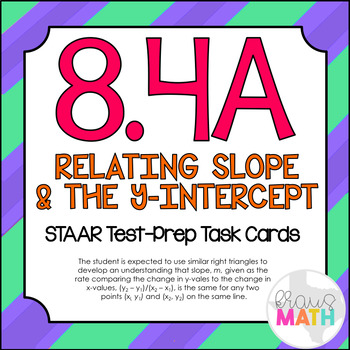 8.4A: Similar Right Triangles: Slope: STAAR Test-Prep Task