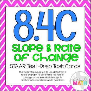 8.4C: Slope & Y-Intercept of Graphs & Tables STAAR Test-Pr