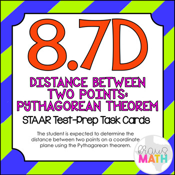8.7D: Distance Between Two Points on a Grid STAAR Test-Pre
