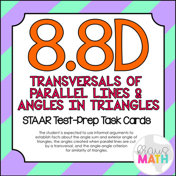 8.8D: Transversals & Angles in Triangles STAAR Test-Prep T