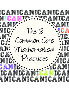 8 Common Core Mathematical Practices mini-POSTERS