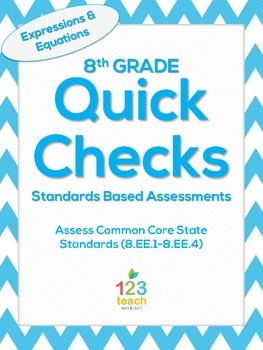 8.EE.1-8.EE.4 Expressions and Equations Common Core Quick