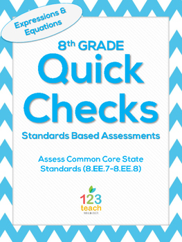8.EE.7-8.EE.8 Expressions and Equations Common Core Quick