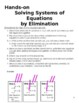 8.EE.C.8 Solving Systems of Equations by Eliminating Hands