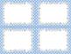 8 Editable Task Card Templates Winter Polka Dots (Landscap